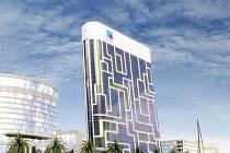 iPod, Dubai, Spojené arabské emiráty Tato budova ve tvaru celosvětově populárního hudebního přehrávače iPod se právě staví v Dubaji. Budova bude mít 23 pater a její výstavba zkončí již příští rok (2010), náklady na stavbu číní celkově 800 mil. dolarů