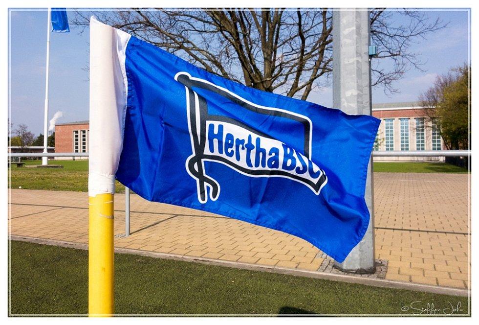 Vlajka Herthy Berlín.