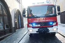 Požár v Rubešově ulici v Kolíně