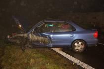 Dopravní nehoda na silnici I/12 u Plaňan. 1. prosince 2011