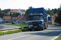 Objízdná trasa přes Týnec nad Labem