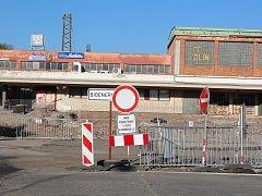 Postup prací na modernizaci autobusového terminálu v Kolíně, říjen 2017