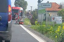 Uzavírka silnice v Kbílku