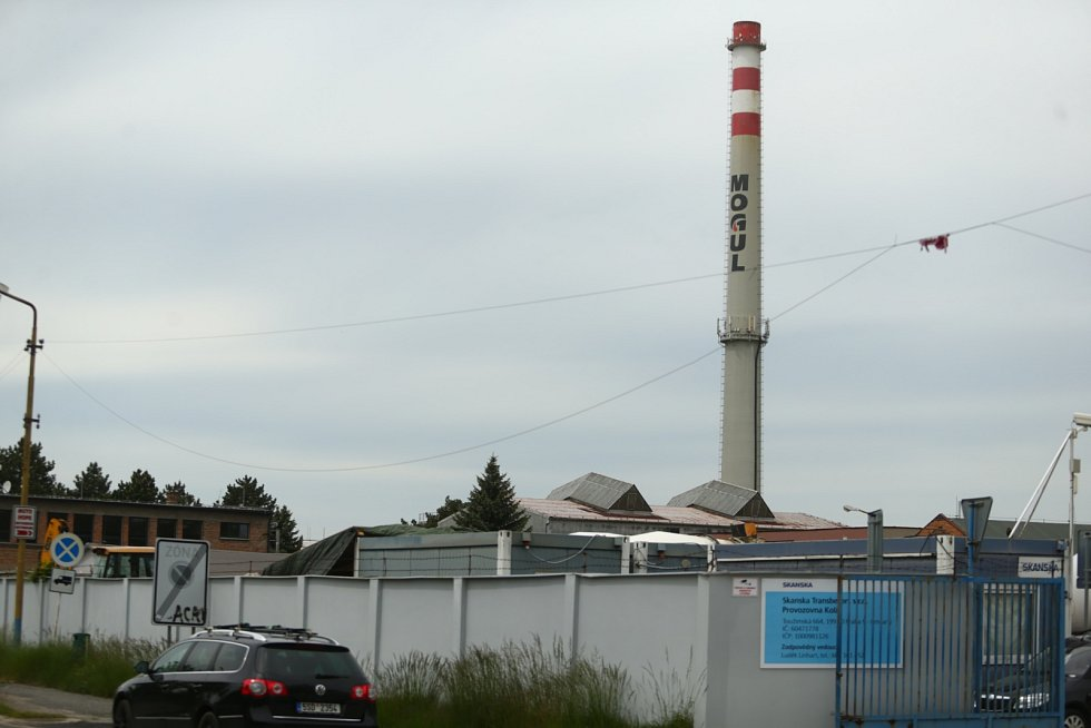 Areál společnosti Paramo v Kolíně.
