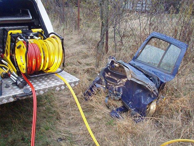 Vážná dopravní nehoda v obci Vyžlovka