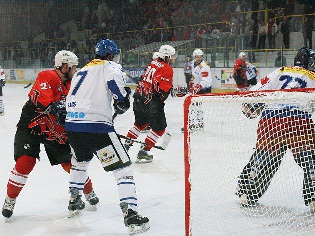 """""""Z utkání druhé hokejové ligy Kolín - Velké Meziříčí (4:4)"""