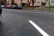Nyní otevřený úsek Masarykovy ulice v Kolíně