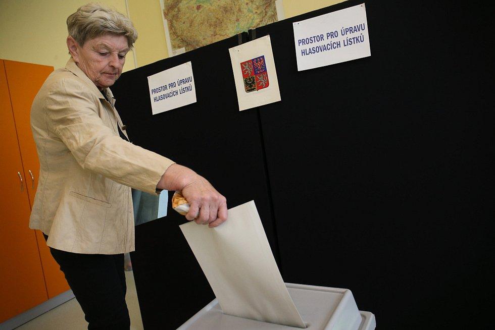 Volby do EP na Kolínsku, volební místnost v 5. ZŠ Kolín