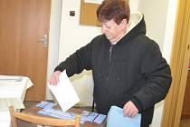 Občané v Mrzkách volili.