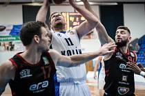 Z pohárového utkání BC Kolín - Nymburk (80:92).