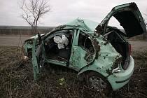 Dopravní nehoda u Dobřichova.