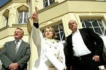 Bauerova, alias Gočárova vila v Libodřicích zaujala ministra Václava Jehličku (vpravo) svou architekturou i osudy rodiny, která ji obývala.