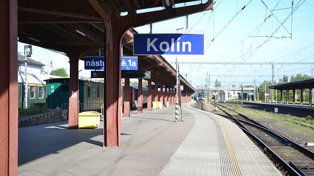 Kolínské nádraží.