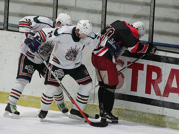 Z hokejového utkání Žabonosy - Zlonice.