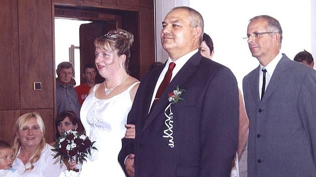 Novomanželé Markéta a Jiří Ottovi