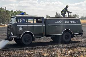 Hasiči zasahovali na poli u Rostoklat.