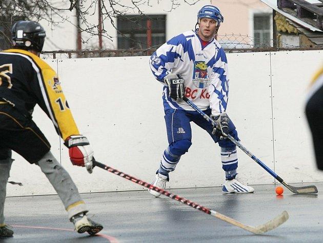 Z utkání 2. národní hokejbalové ligy Kolín - Ďáblové Praha B (3:0).