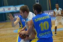 Z utkání Mattoni NBL BC Farfallino Kolín - BK Opava (83:80)