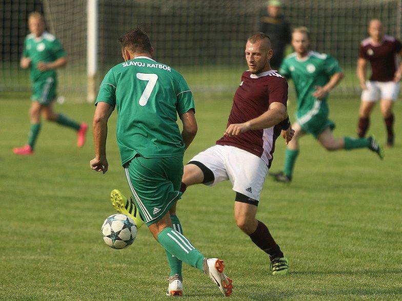 Z utkání Červené Pečky/Pašinka - Ratboř (2:1).