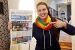 Nová královna sportovců Kateřina Šafránková nám zapózovala s vydáním Kolínského deníku, kde jsme popisovali její triumf ve sportovní anketě.
