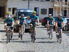 Jednou ze zastávek cykloběhu byl také Kolín. Cyklisté odtud pokračovali směrem na Mladou Boleslav.