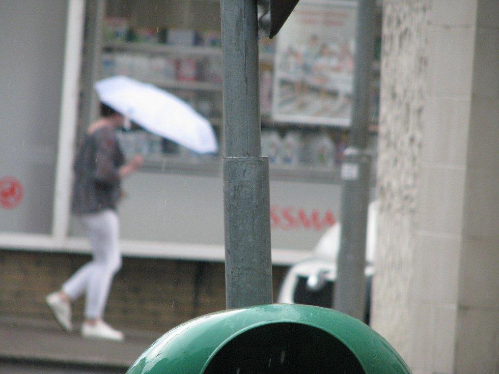 Bouřka v Kolíně ve čtvrtek 10. června 2021.