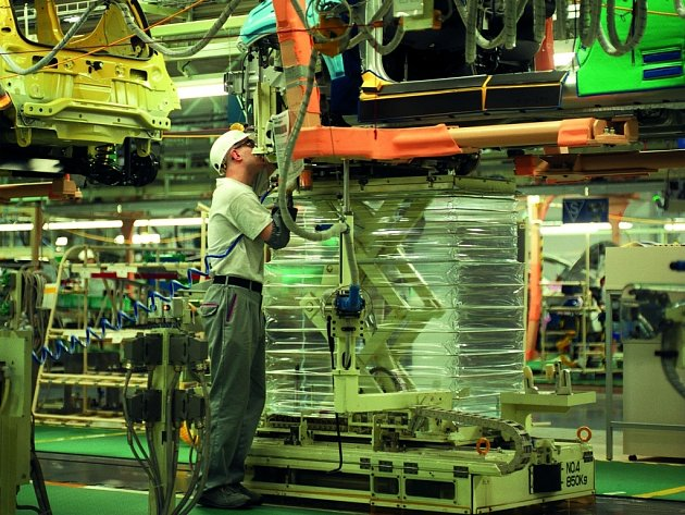 Výroba v TPCA v Kolíně.