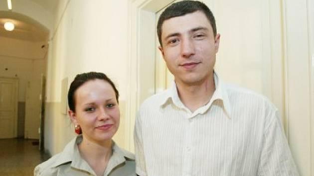 Napadený Giorgij Cereteli se svou současnou přítelkyní Renatou Hrazdílkovou.