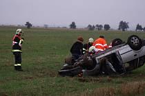 Dopravní nehoda nad kolínským letištěm poblíž odbočky na Zibohlavy