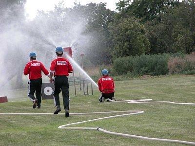 Kutnohorská hasičská liga v Krchlebech.