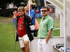 Ladislav Bobek (vpravo) už není trenérem fotbalistů Kolína.