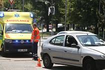 Nehoda na křižovatce ulic Legerova, Jaselská a Žižkova v Kolíně