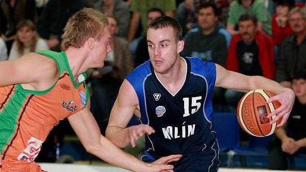 Z utkání Kolín - Liberec (90:81).