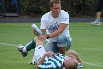Fotbalové utkání I. A třídy Neratovice - Polepy (1:1).