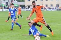Z utkání FK Kolín - Olomouc (0:2).
