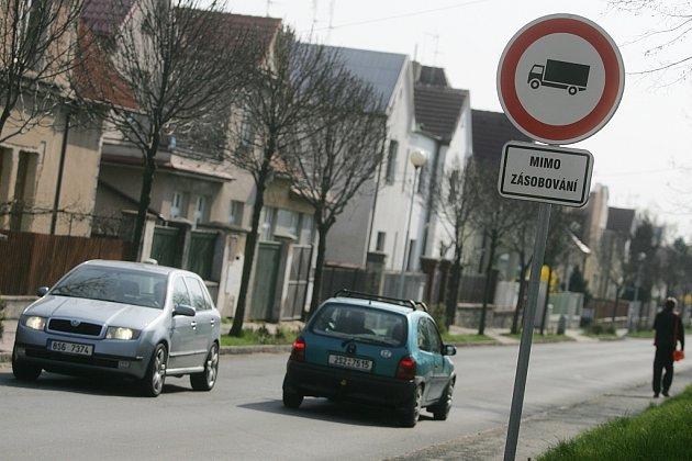Orebitská ulice v Kolíně.