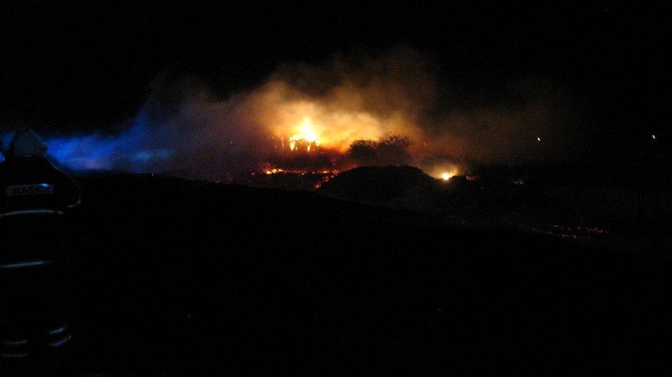 Požár v Žiželicích.