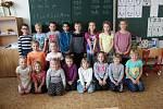 1. C Základní školy Miloše Šolleho v Kouřimi, třídu vede třídní učitelka Blanka Kombercová