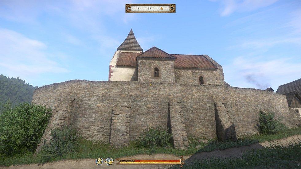 Kostel v Sázavě - pohled ze hry