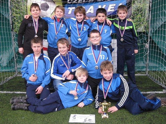 Mladí kolínští fotbalisté skončili na pražském turnaji na druhém místě.