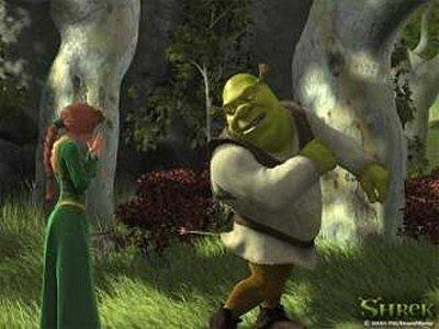 Snímek z filmu Shrek.
