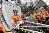 Z cyklistického tréninku v Borkách.
