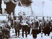 Rybářská výstava se uskutečnila v říjnu 1908 na Hořejším ostrově v Kolíně.