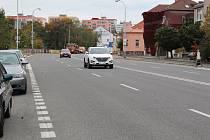 Průtah Kolínem v Jaselské ulici.