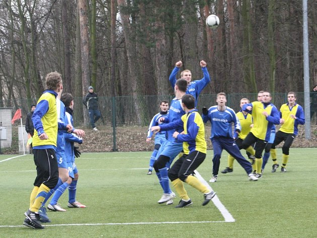 Z přípravného utkání FK Kolín - Benešov (4:0).
