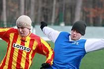 Z turnajového utkání v Kostelci mezi týmy Kouřimi a Sadské (2:1).