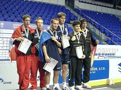 Filip Dejda (třetí zleva) se stal nejúspěšnějším účastníkem MS.