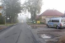 Dopravní nehoda ve Vrbové Lhotě, po které řidič z místa ujel.
