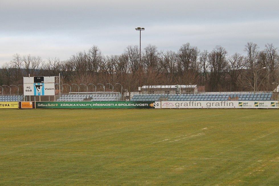 Fotbalový stadion ve Vlašimi.