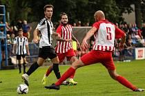 Z divizního fotbalového utkání Kolín - Kutná Hora (7:1)